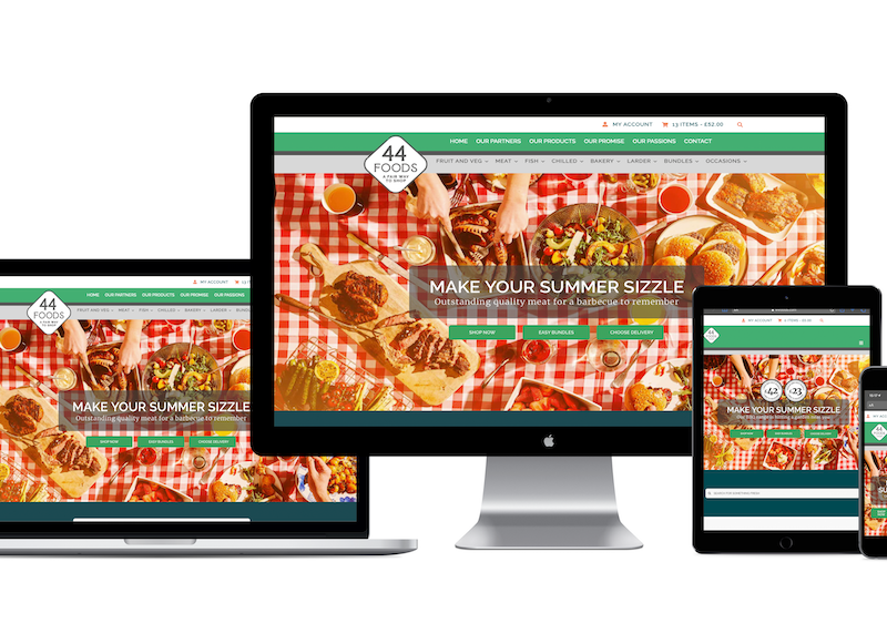 44 Digital Marketplace Case Study 44 Foods Multiple Devices