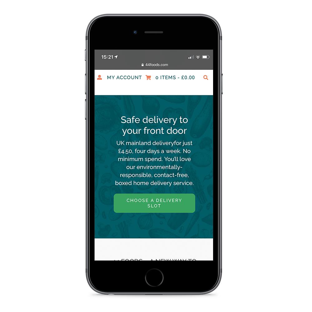 44 Digital Marketplace Case Study 44 Foods Mobile Delivery