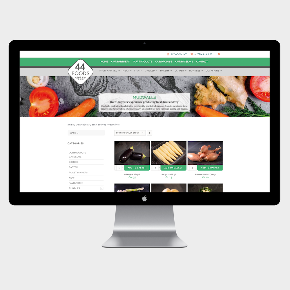 44 Digital Marketplace Case Study 44 Foods Shopping Page