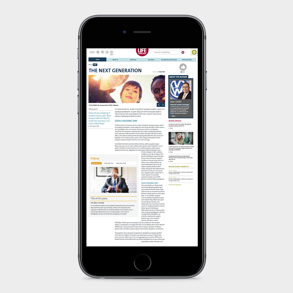 44 Digital Workplace Case Study Volkswagen Group Homepage Mobile