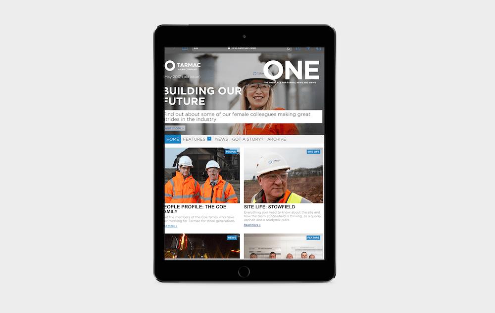 44 Digital Workplace Case Study Tarmac News Magazine